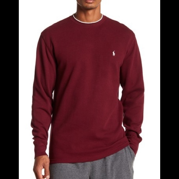feba9b669b97b Collegiate Waffle Knit Long Sleeve Crew Neck